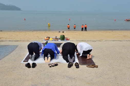 송평해수욕장 용왕제