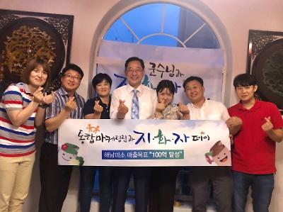 유통지원과 통합마케팅팀과 '지화자 데이'