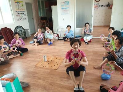 경로당 정신건강 이동 상담실 운영(8월, 해남읍 고수리 경로당)