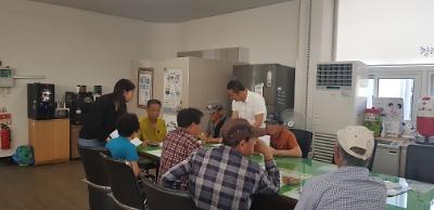 옥천면 하반기 희망근로 지원사업 참여자 교육