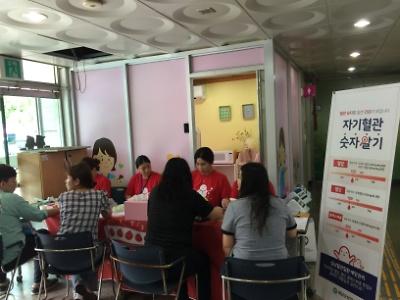 심뇌혈관 예방관리 주간 「자기혈관 숫자 알기」캠페인-군청민원실