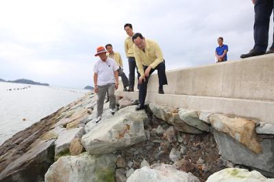 태풍 '링링'피해현장 방문