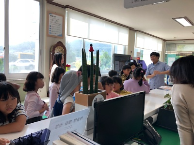 화원초등학교 면사무소 체험학습 방문