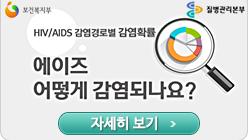 보건복지부,질병관리본부. HIV/AIDS 감염경로별 감염확률 에이즈 어떻게 감염되나요? 자세히 보기