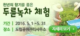 천년의 향기를 품은 두륜녹차 체험 기간:2016.5.1~5.31, 장소:도립공원관리사무소 자세히 보기
