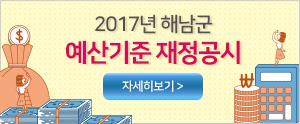 2017년 해남군 예산기준 재정공시 자세히보기>